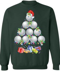Golf Santa Hat Ugly Christmas Sweatshirt