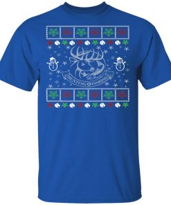 Funny Mens Hunting Fishing Lover Ugly Christmas
