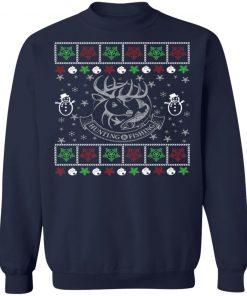 Funny Mens Hunting Fishing Lover Ugly Christmas Sweatshirt