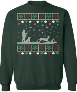 Funny Mens Deer Hunting Lover Ugly Christmas Sweatshirt
