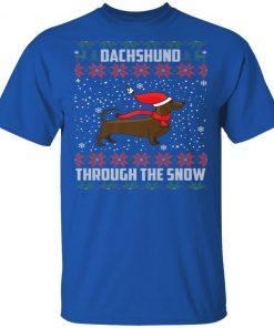 Dachshund Through The Snow Ugly Christmas
