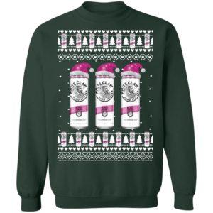 Black Cherry White Claw Hard Seltzer Funny Ugly Christmas Sweatshirt