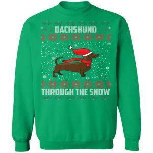 Dachshund Through The Snow Ugly Christmas Sweatshirt