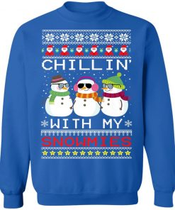 Chillin with my Snowmies Xmas Snowman Ugly Christmas Sweater