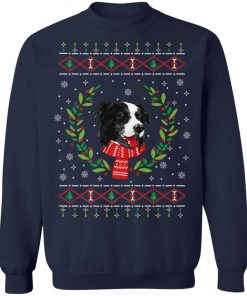 Border Collie Jumper Ugly Christmas Sweatshirt