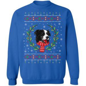 Border Collie Jumper Ugly Christmas Sweatshirt