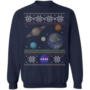 NASA Solar System Ugly Christmas Sweater