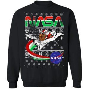 NASA Santa Rocket Ugly Christmas Sweater