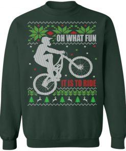 Mountain Bike Ugly Christmas Sweatshirt