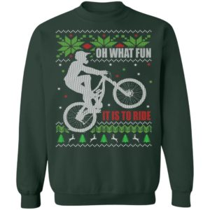 Mountain Bike Ugly Christmas Sweatshirt