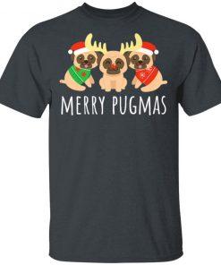 Merry Pugmas Pug Dog Funny Cute Ugly Christmas Shirt