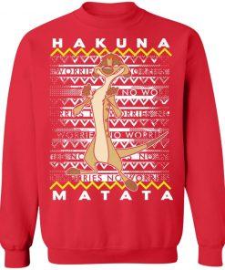 Disney Lion King Timon Ugly Christmas Sweatshirt