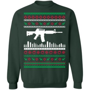 AR15 Machine Gun Ugly Christmas Sweater