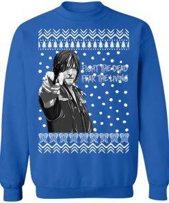 The Walking Dead Daryl Dixon Fight The Dead Fear The Living Christmas Sweatshirt