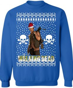 The Walking Dead Daryl Dixon Santa Hat Christmas Sweatshirt