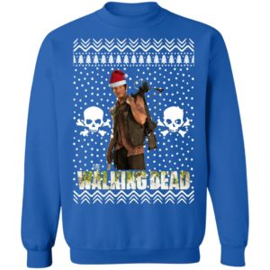 The Walking Dead Daryl Dixon Santa Hat Christmas Sweatshirt