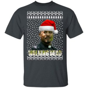 The Walking Dead Father Gabriel Stokes Santa Hat Christmas
