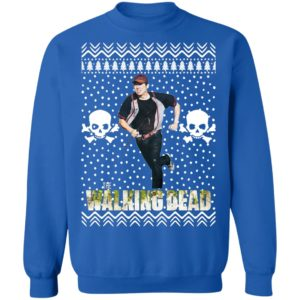The Walking Dead Glenn Rhee Santa Hat Christmas Sweatshirt