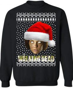 The Walking Dead Maggie Greene Santa Hat Christmas Sweatshirt