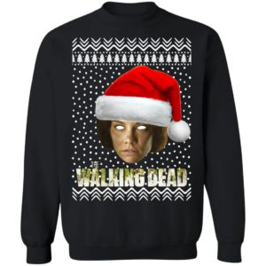 The Walking Dead Maggie Greene Santa Hat Christmas Sweatshirt