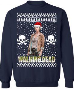 The Walking Dead Melissa McBride Santa Hat Christmas Sweatshirt