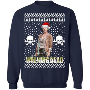 The Walking Dead Melissa McBride Santa Hat Christmas Sweatshirt