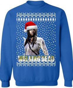 The Walking Dead Michonne Santa Hat Christmas Sweatshirt
