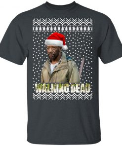 The Walking Dead Morgan Jones Santa Hat Christmas shirt
