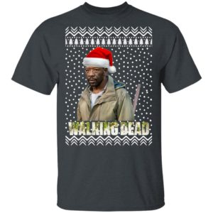 The Walking Dead Morgan Jones Santa Hat Christmas shirt