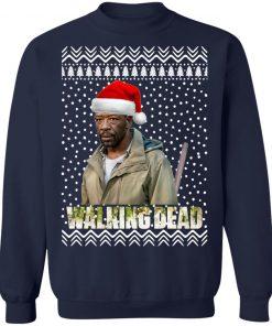 The Walking Dead Morgan Jones Santa Hat Christmas Sweatshirt