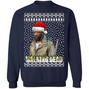 The Walking Dead Morgan Jones Santa Hat Christmas Sweatshirt
