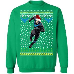 DC Comic Nightwing Dick Grayson Santa Hat Christmas Ugly Sweatshirt