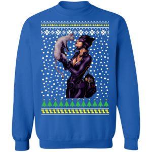 DC Comic Catwoman and Cat Ugly Christmas Sweatshirt
