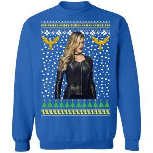 DC Comic Black Canary Sara Lance Ugly Christmas Sweatshirt
