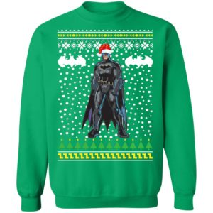 DC Comic Batman Santa Hat Ugly Christmas Sweatshirt