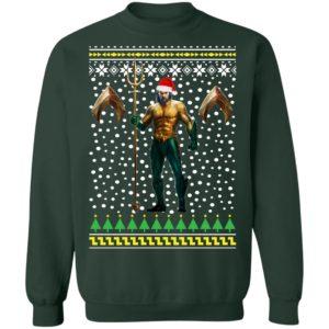 DC Comic Aquaman Santa Hat Ugly Christmas Sweatshirt