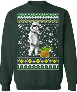 Star Wars Stormtrooper And Baby Yoda Ugly Christmas Sweater
