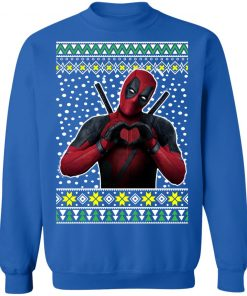 Deadpool Heart Ugly Christmas Sweater