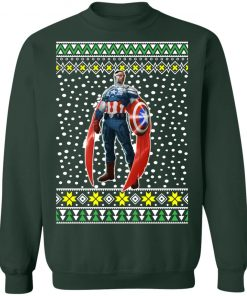 New Captain America Falcon Ugly Christmas Sweater