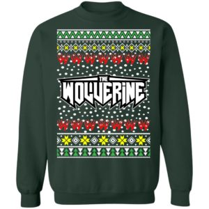 Logan Wolverine Logo Ugly Christmas Sweater