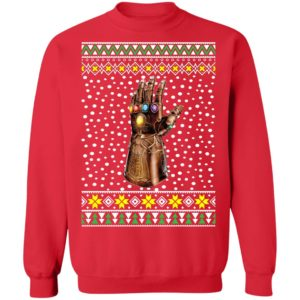 Infinity Hand Finger Thanos Gauntlet Ugly Christmas Sweater