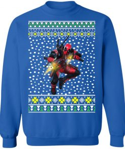 Deadpool Shooting Ugly Christmas Sweater