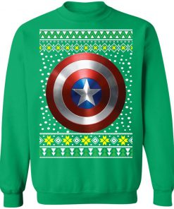 Captain America Shield Ugly Christmas Sweater