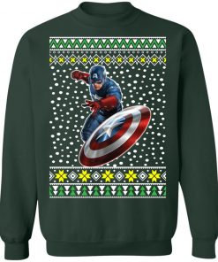 Captain America Action Ugly Christmas Sweater