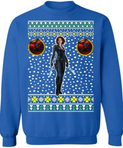 Black Widow Logo Ugly Christmas Sweater