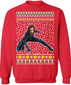 Black Widow Ugly Christmas Sweater