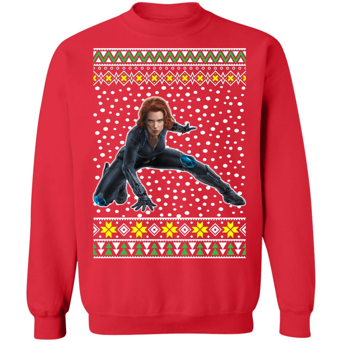 Black Widow Ugly Christmas Sweater Hoodie Shirt Q Finder
