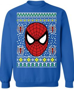 Amazing Spiderman Face Ugly Christmas Sweater