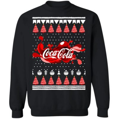 Coca Cola Funny Ugly Christmas Tree Sweatshirt