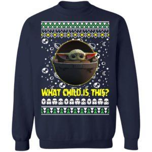 Baby Yoda In The Mandalorian Ugly Christmas Sweatshirt